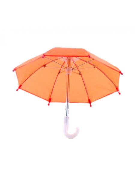 Зонтик для куклы,оранжевый,цена за 1 шт