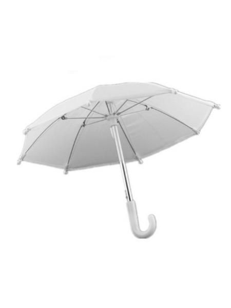 Зонтик для куклы,белый,цена за 1 шт