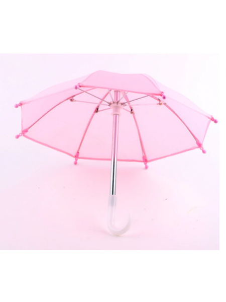 Зонтик для куклы,ярко-розовый,цена за 1 шт