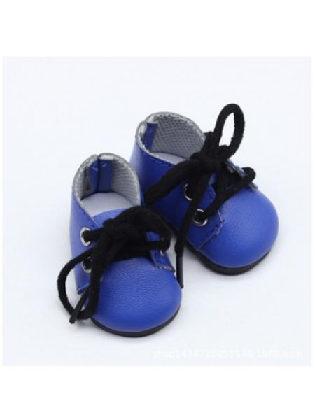 Ботиночки синие(шнурки черные),5*2,8см