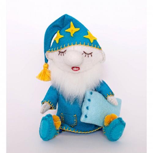 Набор для изготовления текстильной игрушки из фетра ` Гном Засоня`, 13,5см,