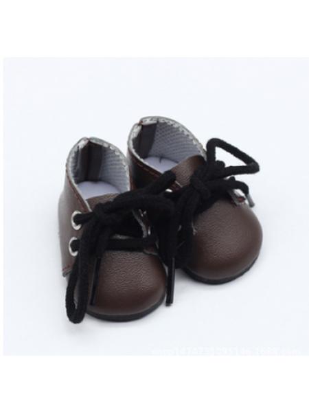 Ботиночки тёмно-коричневые,5*2,8см