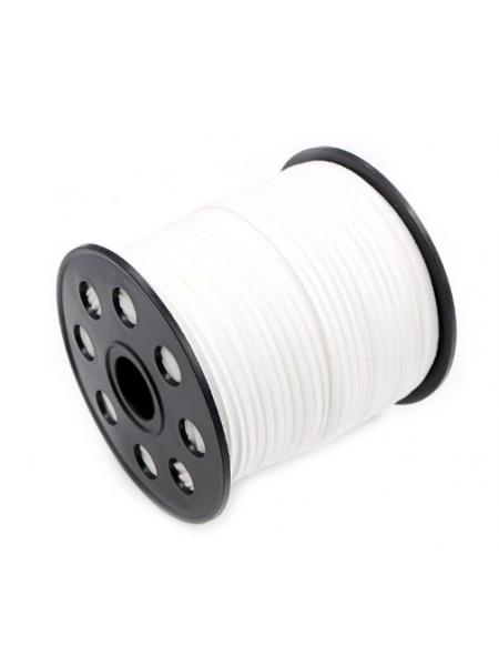 Шнур из замши для украшений, белый Цена-за 1 м