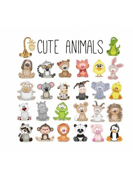Наклейки кукольные-  Набор животных мини,цена за набор