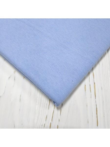 Трикотаж кулирка, 50*50 см,цв-голубая
