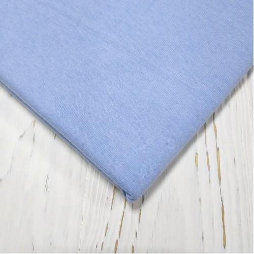 Трикотаж кулирка, 48*50 см,цв-голубой