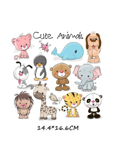 Наклейки кукольные-  Набор животных-,цена за набор