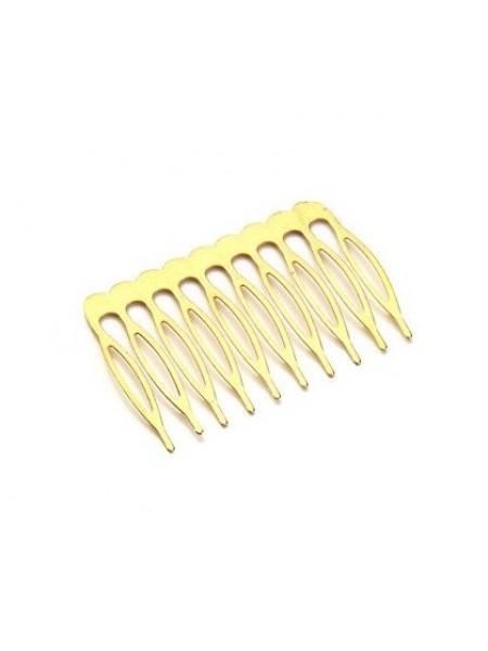 Гребешок основа 5 см (10 зубцов),цвет золото,цена за 1 шт