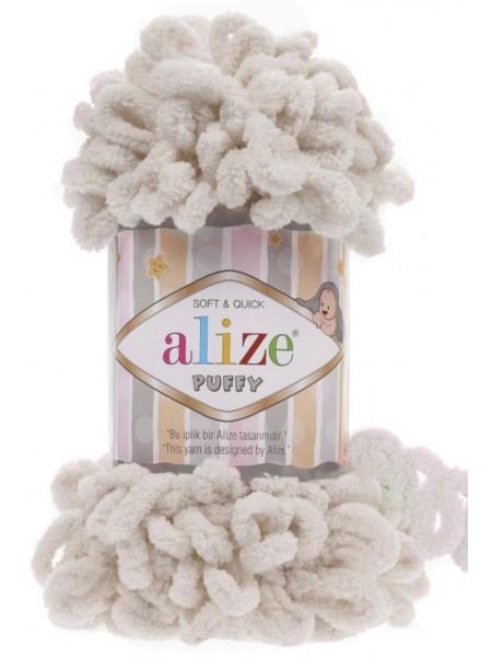 Пряжа Alize Puffy ,цв светлый беж ,100 гр-9 м