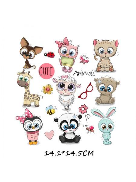 Наклейки кукольные-  Набор животных,цена за набор
