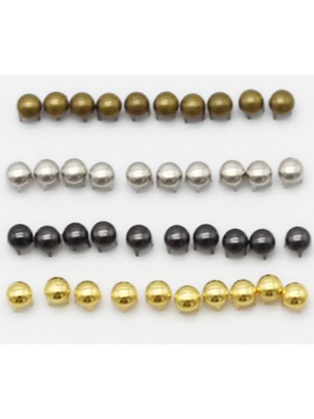 Декоративные заклёпки, Шип-круглый цв-бронза,4 мм ,цена за 20шт