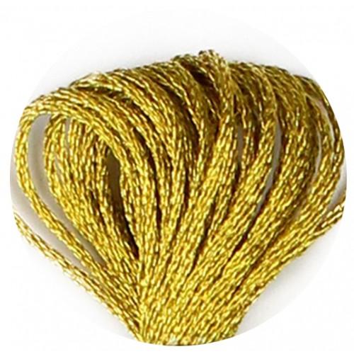 Нитки для вышивания металлик. Dark Gold-Е3852-аналог ДМС