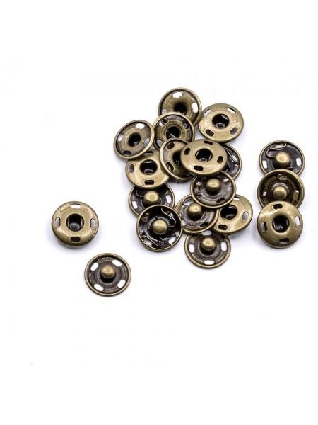 Кнопки пришивные металл-бронза,7мм,в уп. 10 кнопок