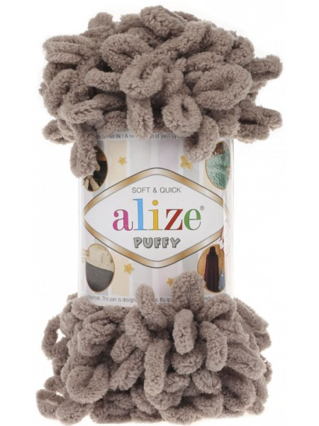 Пряжа Alize Puffy-цвет бежевый,100 гр-9 м