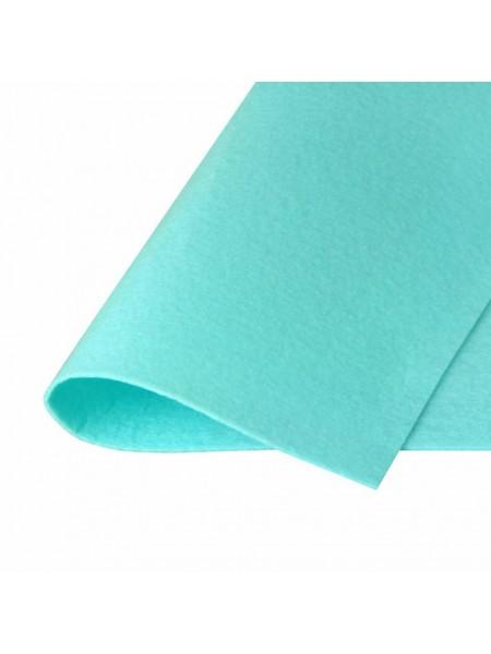 Корейский фетр,жесткий,бирюзовый.1,5 мм,размер 33*26см