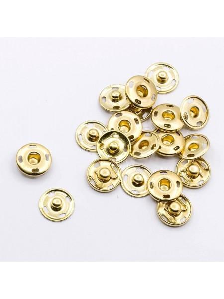 Кнопки пришивные металл-золото,7мм,в уп. 10 кнопок