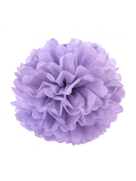 Бумажный помпон, 20*36 см, цв-фиолетовый
