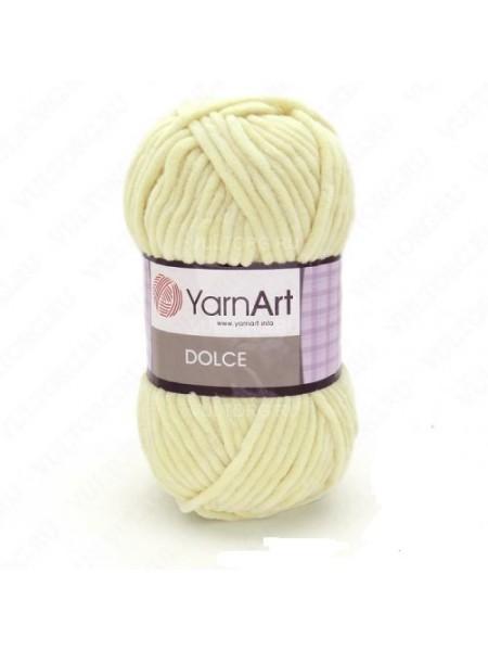 Плюшевая пряжа Dolce YarnArt ,№782,цв-светло-лимонный,100гр