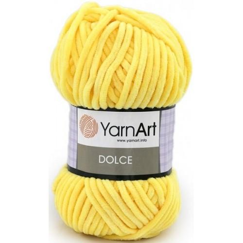 Плюшевая пряжа Dolce YarnArt ,№761,цв-ярко-жёлтый,100гр