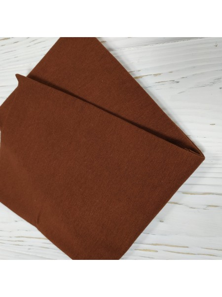 Трикотаж кулирка, 50*50 см,цв-тёмно-коричневый