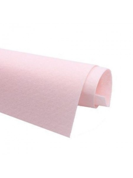 Корейский фетр,жесткий,бледно-розовый.1,5 мм,размер 33*26см