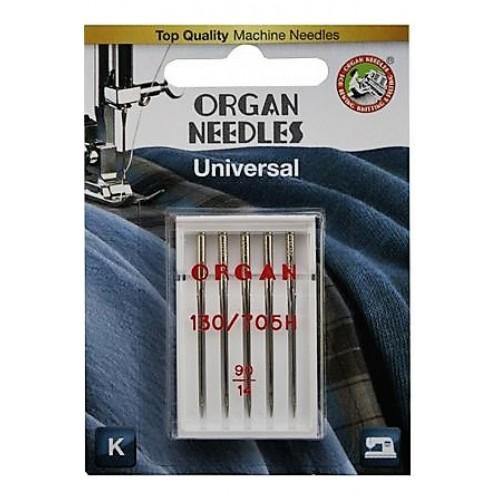"""Иглы для бытовых машин  """"Organ """"  № 90- 5 шт в блистере"""