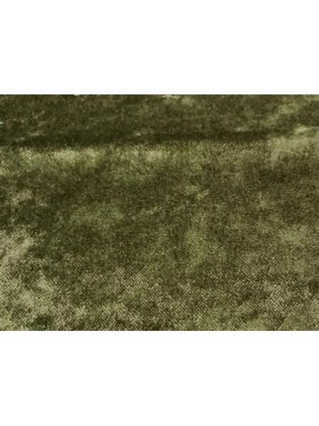 """Плюш """"Элит"""" винтажный на тканевой основе 100 % хлопок, размер 45*50см, цв. болот,Италия"""