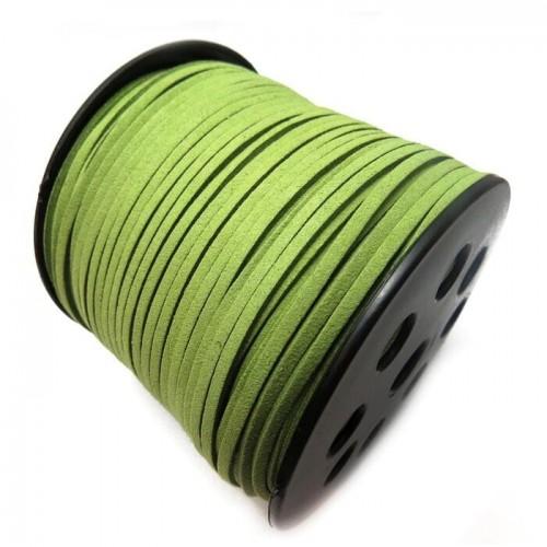 Шнур из замши для украшений, св-зелёный,Цена-за 1 м