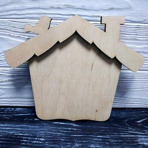 Панно-домик с птичкой,размер 20*25см