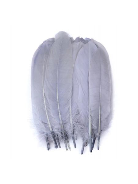 Перья декоративные,цв-серый(070).размер 10-15см,цена за 20 шт