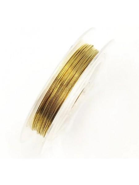 Проволока для бисера ,цв-золото,0,4мм-50м