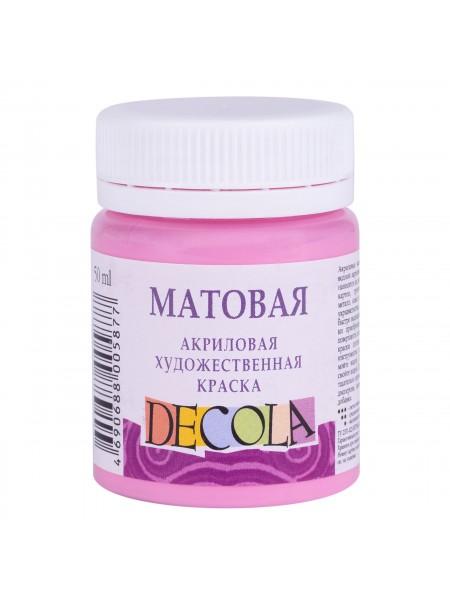 Матовая акриловая краска Decola,цв.розовый, 50мл