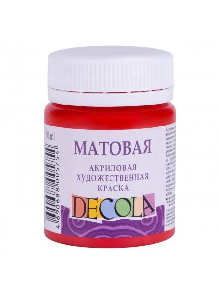 Матовая акриловая краска Decola,цв.красный, 50мл
