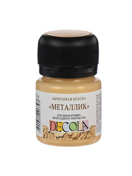 Акриловая краска металлик DECOLA, 20 мл, цв-золото сусальное