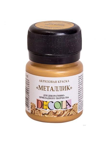 Акриловая краска металлик DECOLA, 20 мл, цв-золото майя