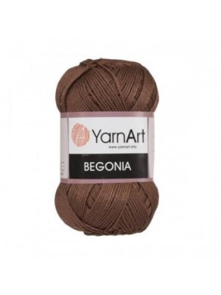 Пряжа Begonia YarnArt-Бегония.№0077, цв-коричневый,50гр-169 м