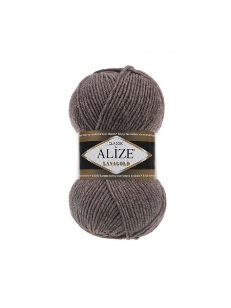 Пряжа Alize-Ланаголд (Lanagold) цв-240-коричневый меланж
