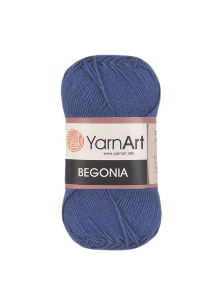 Пряжа Begonia YarnArt-Бегония.№154, цв-синий,50гр-169 м