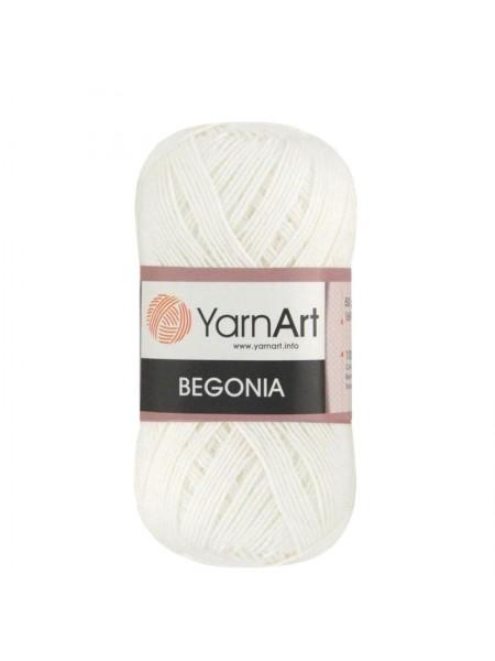 Пряжа Begonia YarnArt-Бегония.№1000, цв-белоснежный,50гр-169 м