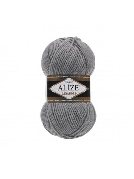 Пряжа Alize-Ланаголд (Lanagold) цв-21 (серый меланж)