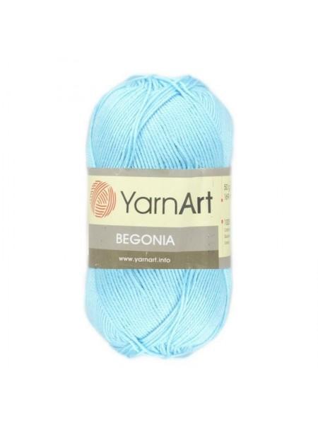 Пряжа Begonia YarnArt-Бегония.№5353, цв-голубая бирюза,50гр-169 м