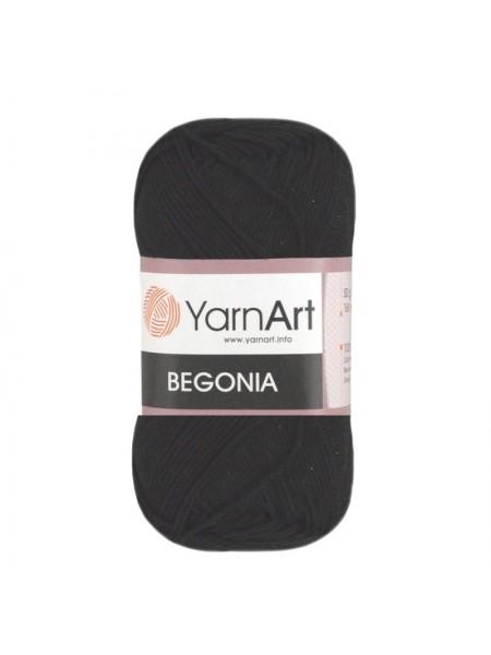 Пряжа Begonia YarnArt-Бегония.№999, цв-чёрный,50гр-169 м