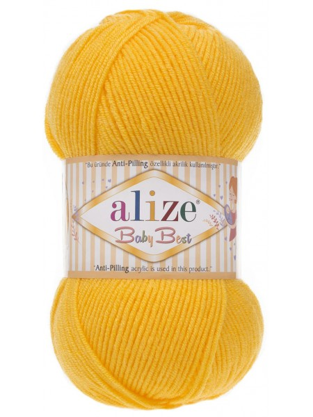 Пряжа Baby Best,№216,цв-жёлтый,100гр-240 метров