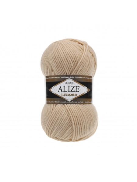 Пряжа Alize-Ланаголд (Lanagold) цв-680 (бежевый)