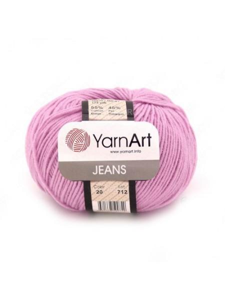 "Пряжа  YarnArt ""Jeans Джинс""цв. 20, розовый"