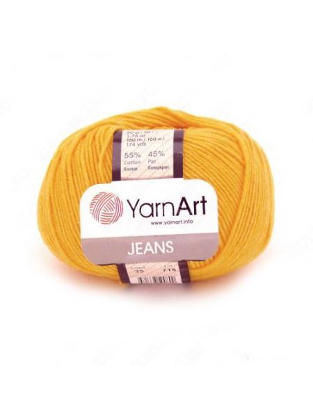 "Пряжа  YarnArt ""Jeans Джинс""цв. 35, жёлтый"