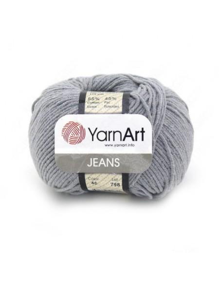 """Пряжа  YarnArt """"Jeans Джинс""""цв. 46, темно-серый"""