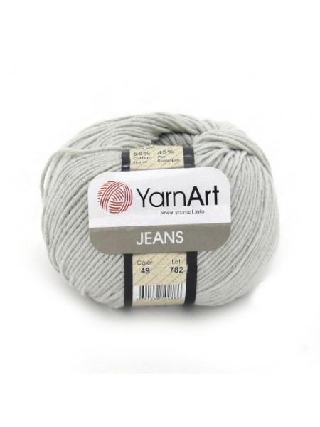 "Пряжа  YarnArt ""Jeans Джинс""цв. 49, серый"