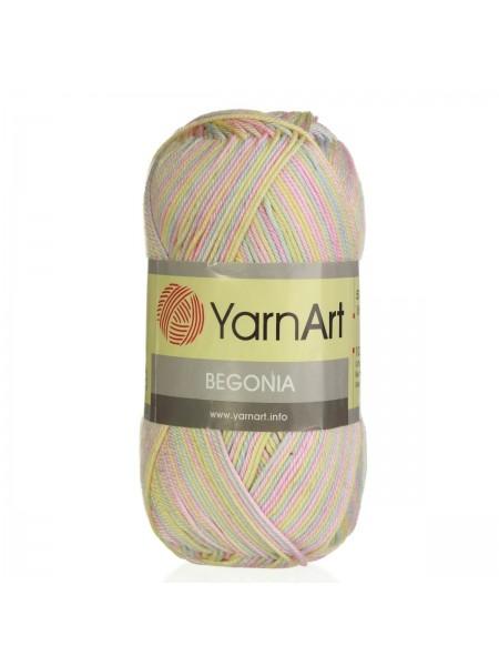 Пряжа Begonia YarnArt-Бегония.№3194-меланж, 50гр-169 м