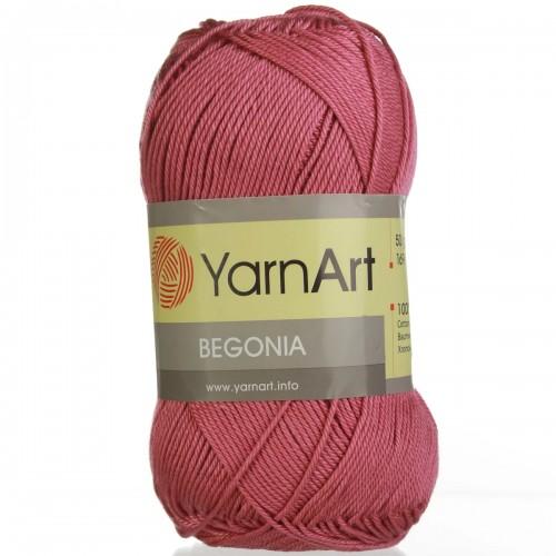Пряжа Begonia YarnArt-Бегония.№75,цв-тёмно-розовый, 50гр-169 м